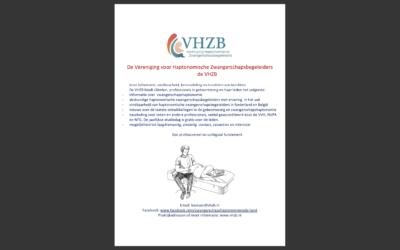 Flyer ontwikkeld met korte informatie over HZB en de VHZB.